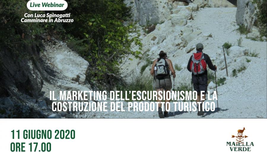Live webinar: il marketing dell'escursionismo e la costruzione del prodotto turistico