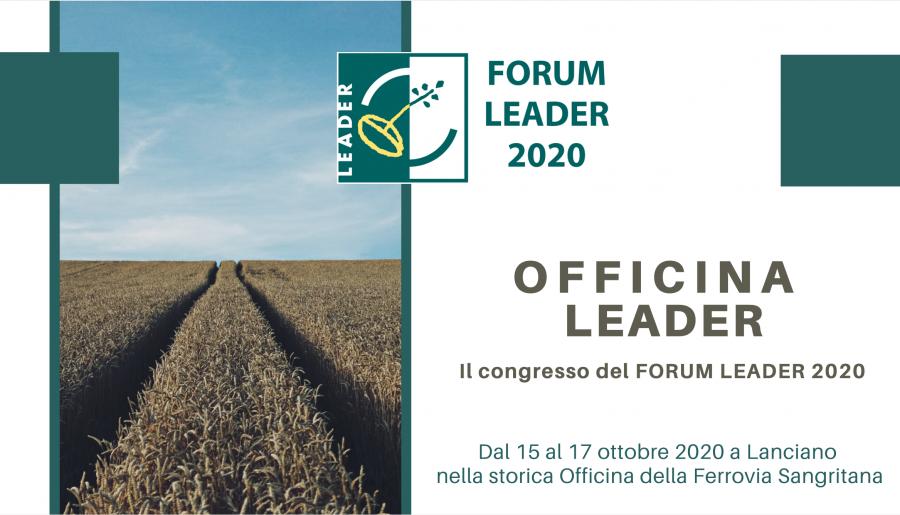 Officina LEADER, il congresso del Forum LEADER 2020