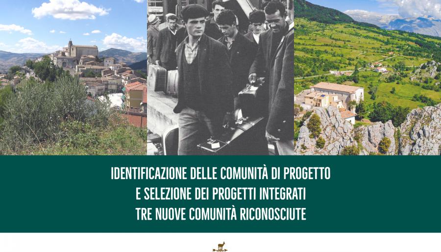 Identificazione delle Comunità di Progetto e selezione dei progetti integrati: tre nuove Comunità riconosciute